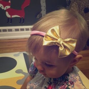Other - Gold bow headband